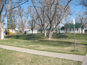 Our Park in Early Spring - Plenty of space, playground and sheltered area make our park a great space tor rent for your next event.